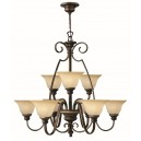 Hinkley Lighting HK/CELLO9 Cello 9 - Light Chandelier