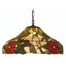 Peonies Tiffany Ceiling Light - Large Pendant- Clearance