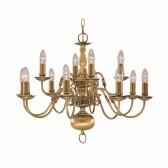 Flemish Ceiling Light - Chandelier Brass