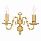 Flemish Wall Light - Small Solid Brass