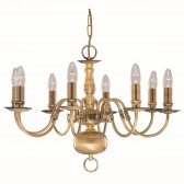 Flemish Ceiling Light - 8 Arm Solid Brass