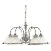 American Diner Ceiling Light - silver 5 light