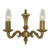 Malaga Wall Light - Dual Light Solid Brass