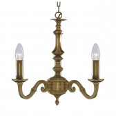 Malaga Ceiling Light - 3 Arm Solid Brass