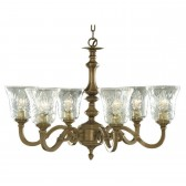 Malaga Ceiling Light - 6 Arm Solid Brass