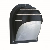 IP44 Outdoor/Porch Light - Black & Frosted