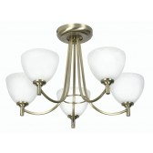 Hamburg Decorative Ceiling Light - 5 Light, Antique Brass