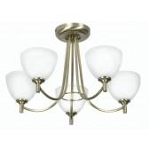 Hamburg Decorative Ceiling Light - 5 Light, Antique Brass