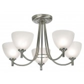 Hamburg Decorative Ceiling Light - 5 Light Antique Chrome