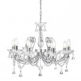 Lafayette 8 Light Crystal Ceiling Light - Chrome