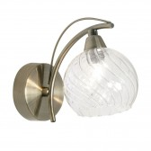 Taranto Single Wall Light - Antique Brass