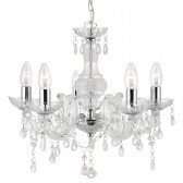Marie Therese Ceiling Light - 5 Light, Chrome, Acrylic Glass