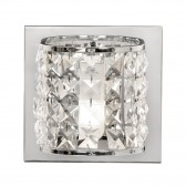 Glamour Flush IP44 Wall Light - Polished Chrome
