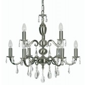 Oaks Lighting 176/6+3 SN Risborough 9 Light Pendant