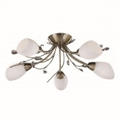 Gardenia Ceiling Light - antique brass flush