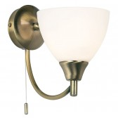Dynasty Wall Light - Antique Brass (Switched)