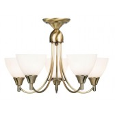 Dynasty Ceiling Light - 5 Light Antique Brass