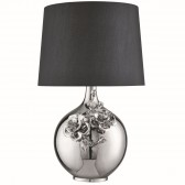 Table Lamp, Flower Deco, Chrome Base