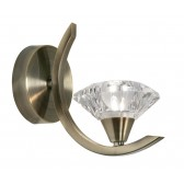 Quaid 1 Light Wall Light - Antique Brass
