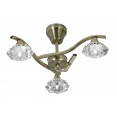 Oaks Lighting 1912/3 AB Quaid Ant Brass Semi Flush