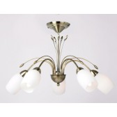 Barleycorn Ceiling Light - 5 Light Antique