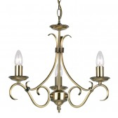 Tied Ceiling Light - 3 Light Antique Brass