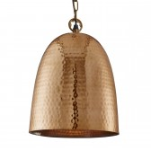 Hammered Bell Pendant - Copper Dia 26Cm