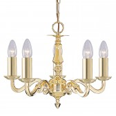 Seville Ceiling Light - 5 Arm Solid Brass