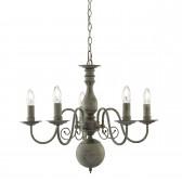 Greythorne 5 Light Ceiling Light - Textured Grey