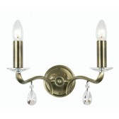 Oaks Lighting 227/2 AB Cobra 2 Light Wall Light