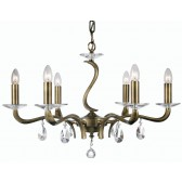 Oaks Lighting 227/6 AB Cobra 6 Light Pendant