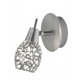 Distin Single Spotlight Wall Light - Chrome