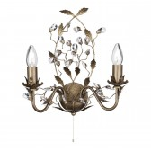Almandite Double Wall Light - Brown, Gold Finish