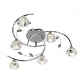 Sierra Semi Flush Ceiling Light - 6 Light, Chrome
