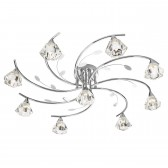 Sierra Semi Flush Ceiling Light - 9 Light, Chrome