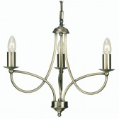 Oaks Lighting 2711/3 AB Loop Antique Brass 3 Light