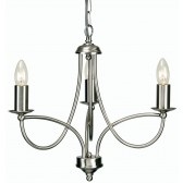 Oaks Lighting 2711/3 AC Loop Antique Chrome 3 Light