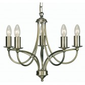 Oaks Lighting 2711/5 AB Loop Antique Brass 5 Light