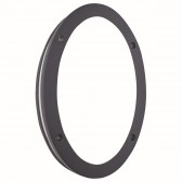 Outdoor & Porch Led Oval Wall Bracket, Black, White Shade