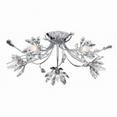 Hibiscus Ceiling Light - polished chrome