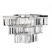 Trinity Tiered Decorative Ceiling Light - 7 Light, Chrome, Bevelled Glass