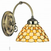 Raindrop Tiffany Wall Light - Brown Beads