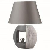 Window Table Lamp - Silver, Grey, Complete with Shade
