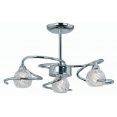 Oaks Lighting 3289/3 CH Heru Chrome 3 Light