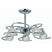 Oaks Lighting 3289/5 CH Heru Chrome 5 Light