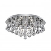 Hanna Flush Ceiling Light 8 lamp chrome