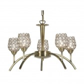 Koge Ceiling Light - 5 Light, Antique Brass
