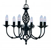 Zanzibar Ceiling Light - black 6 light