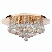Hanna Flush Ceiling Light 4 Lamp Gold