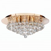 Hanna Flush Ceiling Light 6 Lamp Gold